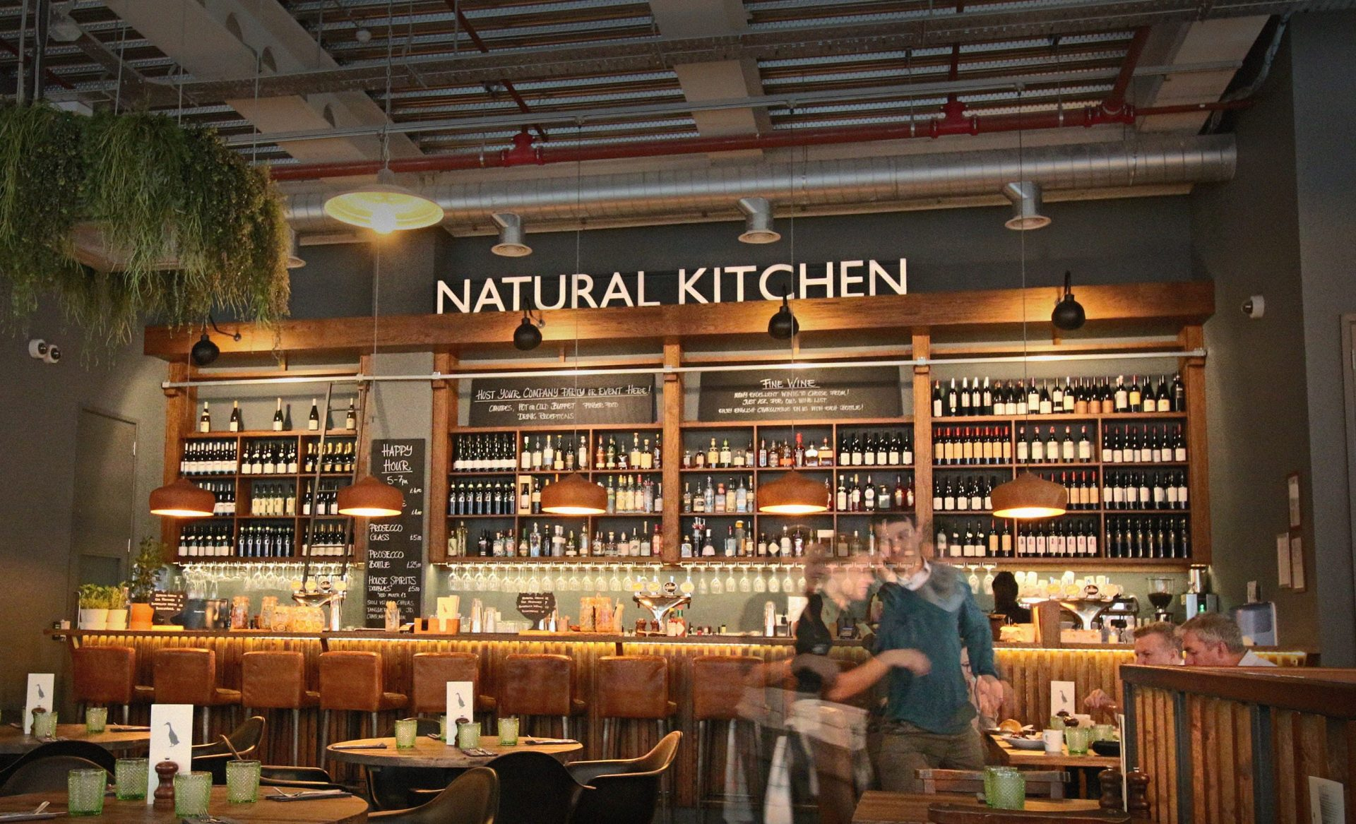 Web design for natural kitchen restaurant in london